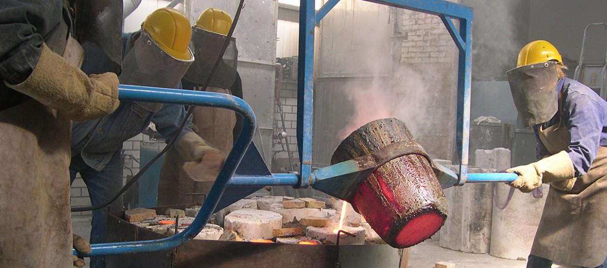 Bronsgieten kop